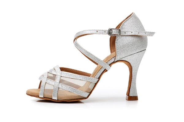 tanečné topánky strieborné