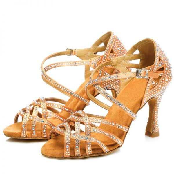 tanecne topanky bronzova farba