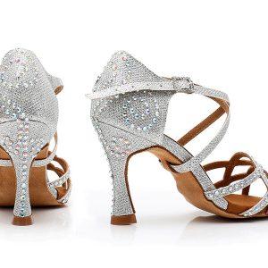 svadobné tanečné topánky strieborné