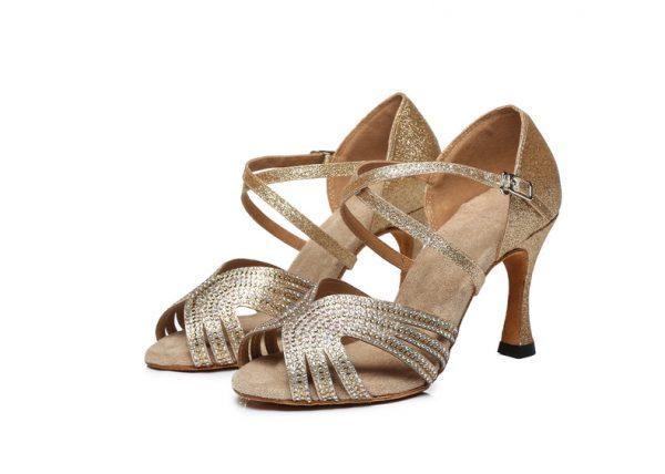 topanky na tanec zlate