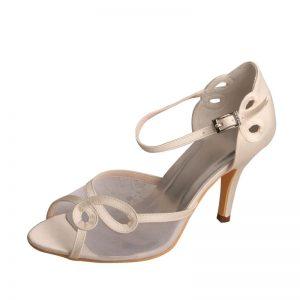 svadobné topánky so sieťkou